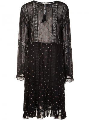 Printed peasant dress Ulla Johnson. Цвет: чёрный