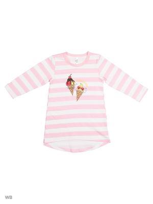 Ночная сорочка Modis. Цвет: бледно-розовый, белый