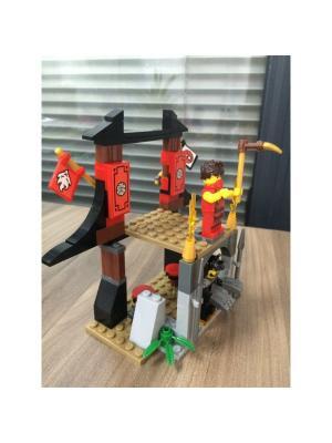 Конструктор Город мастеров Самураи: битва за храм, с фигурками.. Цвет: коричневый, красный, черный