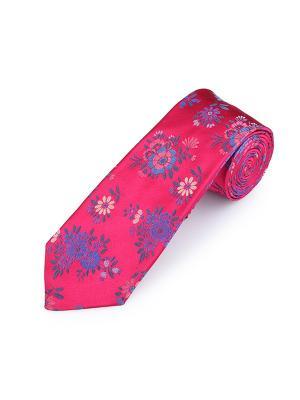 Галстук Motif Floral Arbon Duchamp. Цвет: серо-голубой, бледно-розовый, малиновый