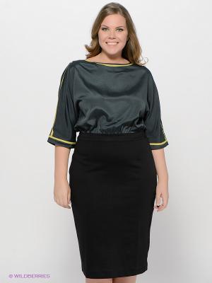 Платье LE MONIQUE. Цвет: черный, темно-серый, желтый