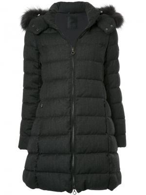 Дутая куртка с капюшоном Tatras. Цвет: серый