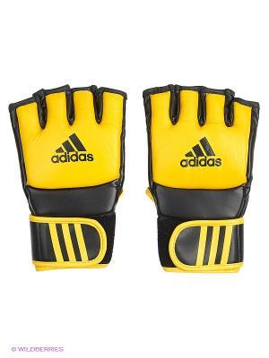 Митенки для смешанных единоборств Ultimate Fight Adidas. Цвет: желтый
