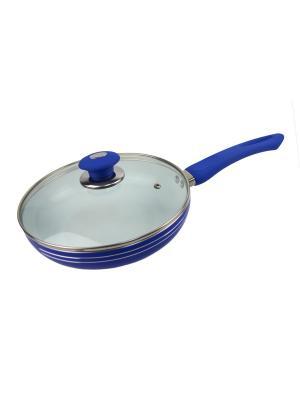 Сковорода с керамическим покрытием 26см BOHMANN. Цвет: синий