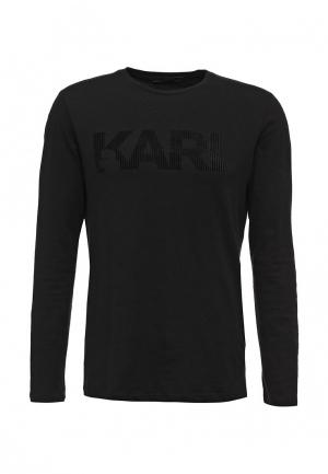 Лонгслив Karl Lagerfeld. Цвет: черный