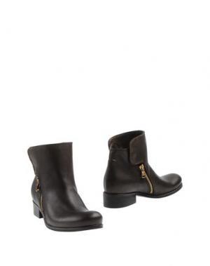 Полусапоги и высокие ботинки SCOOP. Цвет: темно-коричневый