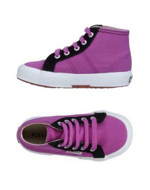 Низкие кеды и кроссовки SUPERGA®. Цвет: розовато-лиловый
