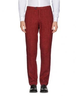 Повседневные брюки ORIGINAL VINTAGE STYLE. Цвет: красно-коричневый