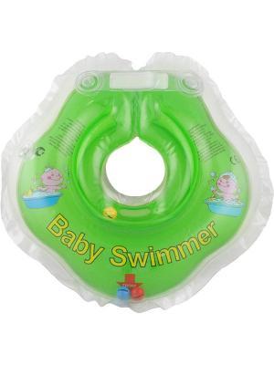 Круг салатовый (полуцвет+внутри погремушка) Baby Swimmer. Цвет: салатовый
