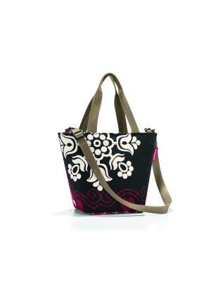 Сумка Shopper XS special edition country Reisenthel. Цвет: черный, розовый, темно-бежевый