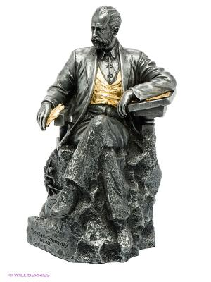Статуэтка Петр Чайковский Veronese. Цвет: темно-серый, золотистый