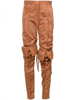 Спортивные брюки с завышенной талией Y / Project. Цвет: коричневый