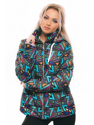 Куртка Issa Plus. Цвет: зеленый, фиолетовый