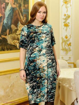 Платье МадаМ Т. Цвет: темно-синий, голубой, бежевый