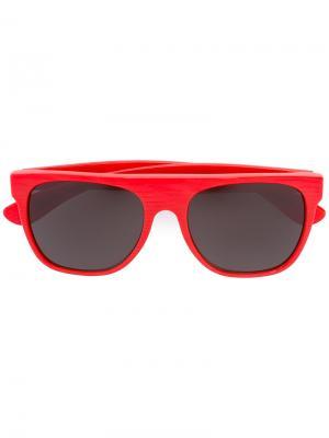 Солнцезащитные очки Flat Top Retrosuperfuture. Цвет: красный