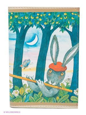 Обложка для автодокументов Музыка леса Mitya Veselkov. Цвет: синий, красный