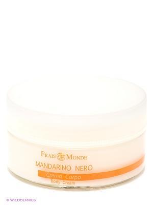 Крем для тела с ароматом белого мускуса и черного мандарина Frais Monde. Цвет: молочный