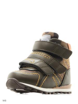 Ботинки ортопедические ORTHOBOOM. Цвет: коричневый, зеленый