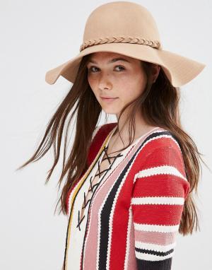 Alice Hannah Широкополая шляпа в стиле 70‑х. Цвет: бежевый