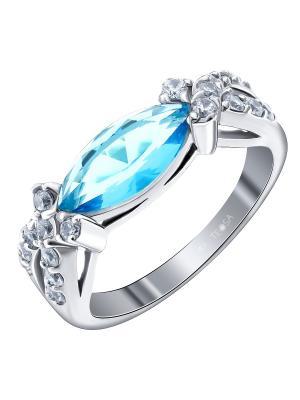 Кольцо Teosa. Цвет: серебристый, синий