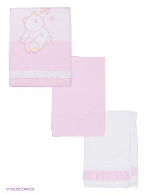 Комплект Пушистик 3 предмета Сонный гномик. Цвет: розовый