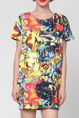 Платье Grazia. Цвет: мультицвет