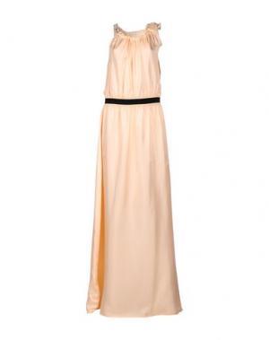 Длинное платье PINKO. Цвет: абрикосовый