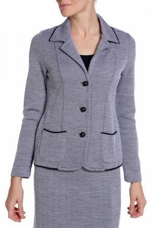 Пиджак ROSANNA PELLEGRINI. Цвет: черно-серый