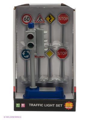 Набор игровой Светофор с дорожными знаками DREAM MAKERS. Цвет: серебристый