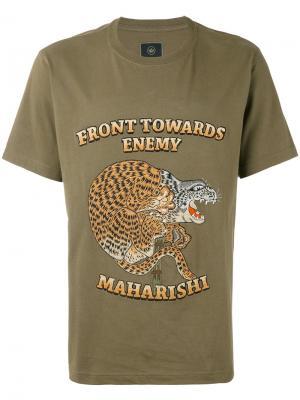 Футболка Crouching Tiger Maharishi. Цвет: зелёный