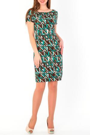 Платье S&A style. Цвет: коричнево-зеленый