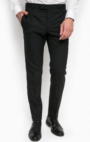 Однотонные шерстяные брюки Strellson. Цвет: черный