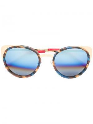 Солнцезащитные очки с круглой оправой Matthew Williamson. Цвет: многоцветный