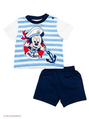 Комплект Disney. Цвет: голубой, белый, темно-синий