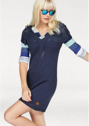 Платье Kangaroos. Цвет: джинсовый синий