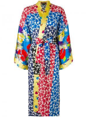 Платье с запахом и абстрактным принтом Duro Olowu. Цвет: none