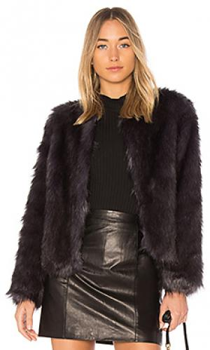 Куртка из искусственного меха unreal dream Fur. Цвет: синий