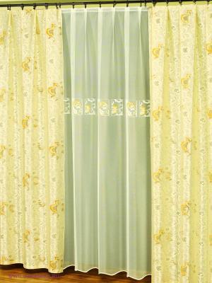 Комплект штор Haft. Цвет: желтый