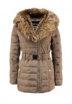Куртка утепленная Warehouse. Цвет: бежевый