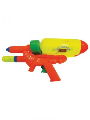 Водный пистолет с помпой и 2мя баллонами 37см. Тилибом. Цвет: желтый, оранжевый