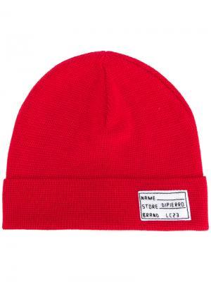 Трикотажная шапка Lc23. Цвет: красный