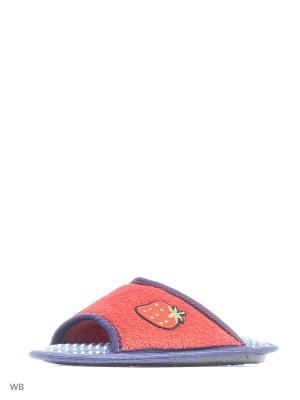 Тапочки BRIS. Цвет: красный