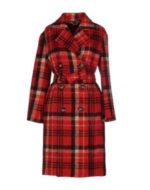 Пальто TENAX. Цвет: красный