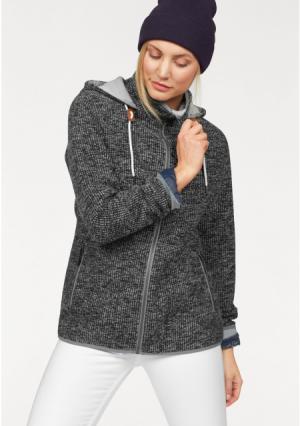 Флисовая куртка POLARINO. Цвет: темно-серый/меланжевый