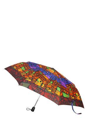 Зонт Labbra. Цвет: оранжевый, желтый, коричневый, синий, фиолетовый