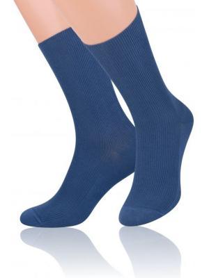 Носки с ослабленной резинкой Steven. Цвет: синий, серо-голубой