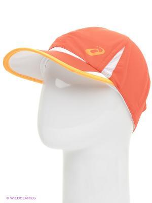 Бейсболка TENNIS CAP ASICS. Цвет: оранжевый