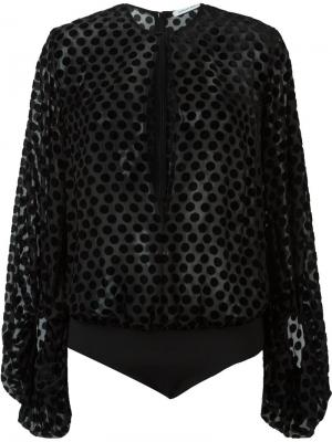 Блузка-боди Carmine Camilla And Marc. Цвет: чёрный