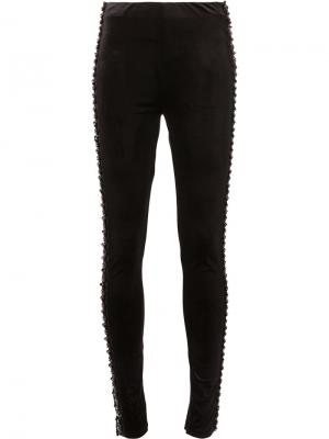 Embellished skinny trousers Koche. Цвет: чёрный