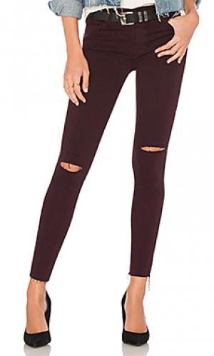 Укороченные джинсы с бахромой noah Black Orchid. Цвет: красное вино